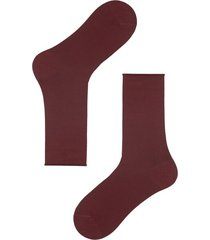 calzedonia short cuffed cotton socks, no elastic man burgundy size tu