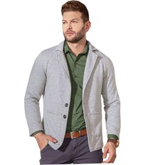 blazer adulto masculino gris jaspe marketing  personal
