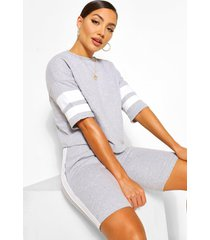 side panel short and top set, grey marl