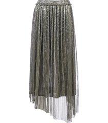 isabel marant étoile dolmenae metallic fabric asymmetric skirt