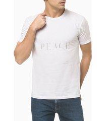 camiseta mc slim silk new year peace - branco - gg