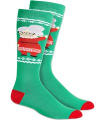 charter club women's mrs. claus knee-high socks, created for macy's