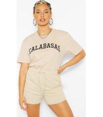 calabasas slogan oversized t-shirt, sand