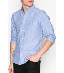 only & sons onsalvaro ls oxford shirt noos t-shirts & linnen blå