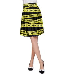 crime scene tape a-line skirt