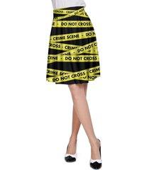 crime scene tape a-line skirt