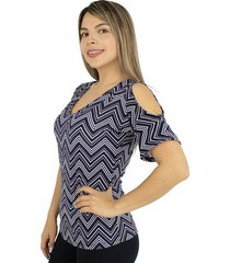 blusa chifon unicolor doble capa blanca - ref 77283500 -blanco