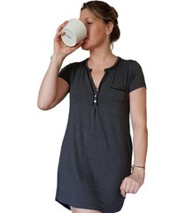 camisa de dormir maternal y lactancia adriana madremía