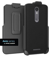 motorola droid turbo 2 - spring clip belt holster (case-free design) (encased
