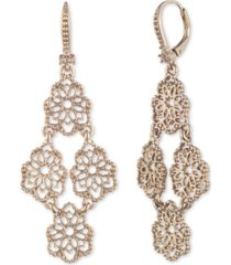 marchesa gold-tone filigree kite chandelier earrings