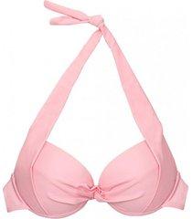 bikini estilo sostén con relleno rosado samia