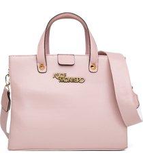 bolsa alice monteiro grandes alça gorguráo bordada - rosa bebê - tricae