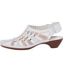 skor med hälrem naturläufer vit