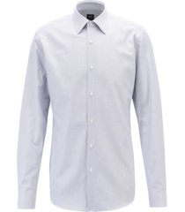 boss men's t-carl slim-fit striped italian cotton twill shirt