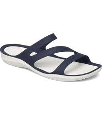 swiftwater sandal w blk/whi shoes summer shoes flat sandals vit crocs
