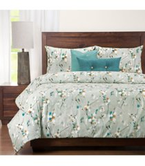 siscovers hamton contemporary floral 5 piece twin luxury duvet set bedding
