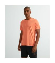 camiseta esportiva em malha mescla | get over | laranja | p