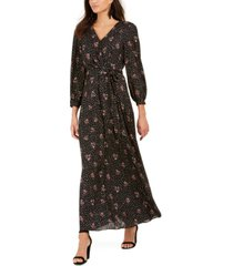 ny collection petite tie-belted maxi dress