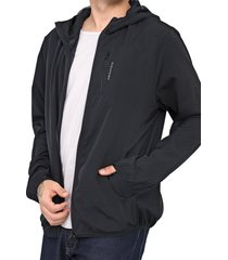 jaqueta corta vento aleatory lisa preta - kanui