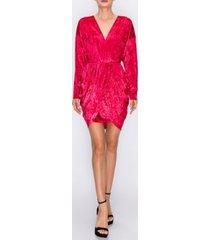 endless rose velvet wrap dress