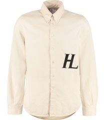 helmut lang denim button-down shirt