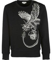 alexander mcqueen black cotton sweatshirt