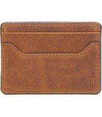 men's frye logan leather money clip card case -