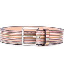 paul smith rainbow stripe belt - neutrals