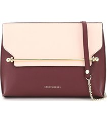 strathberry stylist bicolor clutch with shoulder strap