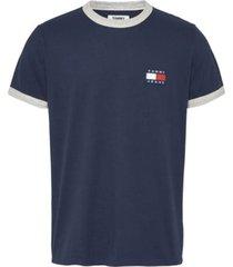 camiseta tjm branded ringer t-shirt azul tommy jeans