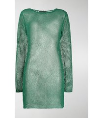alanui sheer knitted dress
