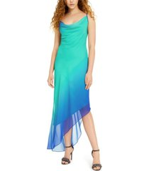 bebe juniors' ombre chiffon cowlneck slip dress