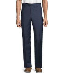 wool flat-front pants