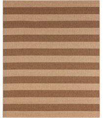 "closeout! karastan portico riviera stripe 5'3"" x 7'10"" indoor/outdoor area rug"