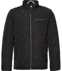 biker jacket kviltad jacka svart tom tailor