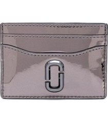 marc jacobs the snapshot mirrored card case - silver