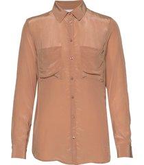 2nd gwen blouse lange mouwen bruin 2ndday