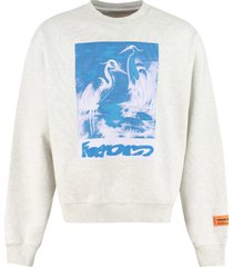 heron preston printed cotton sweatshirt