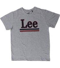camiseta lee malha penteada 5256l manga curta masculina - masculino