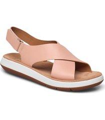 jemsa cross shoes summer shoes flat sandals rosa clarks
