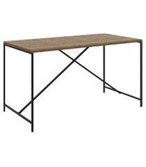 mesa de jantar vermont/preto fosco artesano móveis