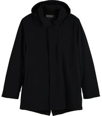 parka stretch donkerblauw