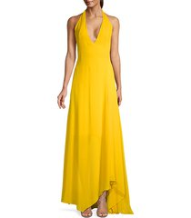 low back halter gown