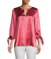 khloe tie-sleeve silk blouse