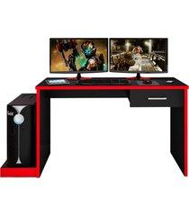 mesa para computador notebook desk game drx 9000 preto/vermelho - mã³veis leã£o - vermelho - dafiti