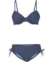 bikini con ferretto (set 2 pezzi) (blu) - bpc bonprix collection