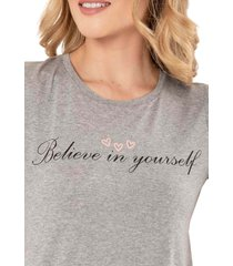 camiseta believe gris ragged pf51120452