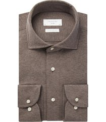 overhemd profuomo knitted bruin