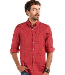 camisa estampada denver rojo ferouch