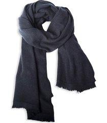 portolano women's ombre cashmere wrap scarf - black